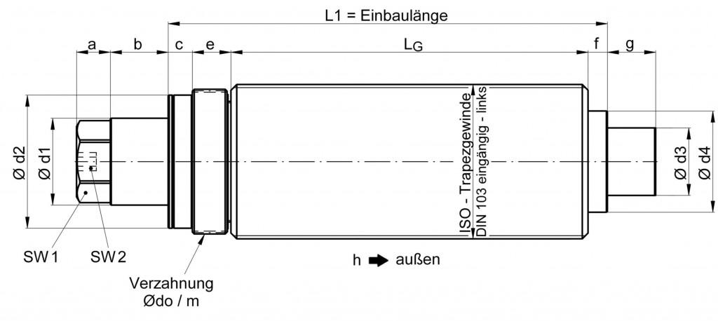 Hydromechanische Kraftspannspindeln Reihe HSP