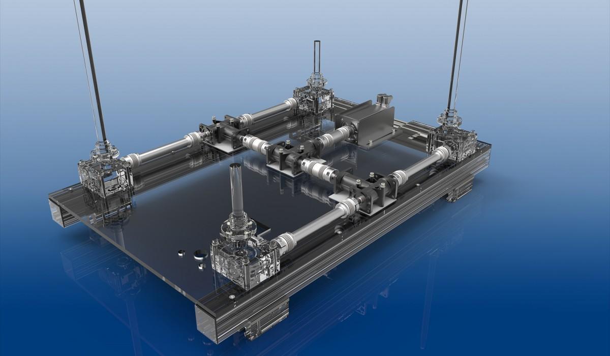 Linearsystem Anwendungsbeispiel WDS, Distanzkupplungen - Gelenkwellen