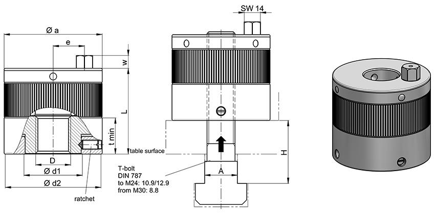Mechanical Power Clamping Nut I Series MDA