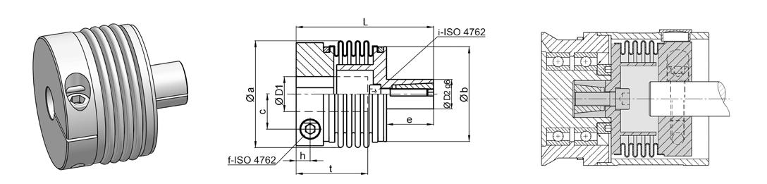 Metal Bellows Coupling I Series KSS